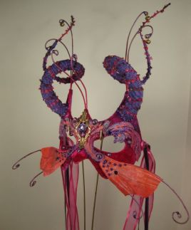 Pink Masquerade Mask side