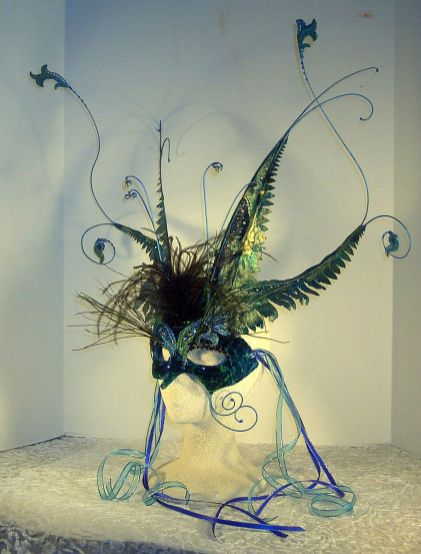 Sea Kelp Goddess Masquerade Mask