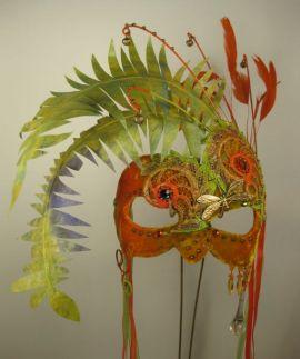 Tangerine Masquerade Mask