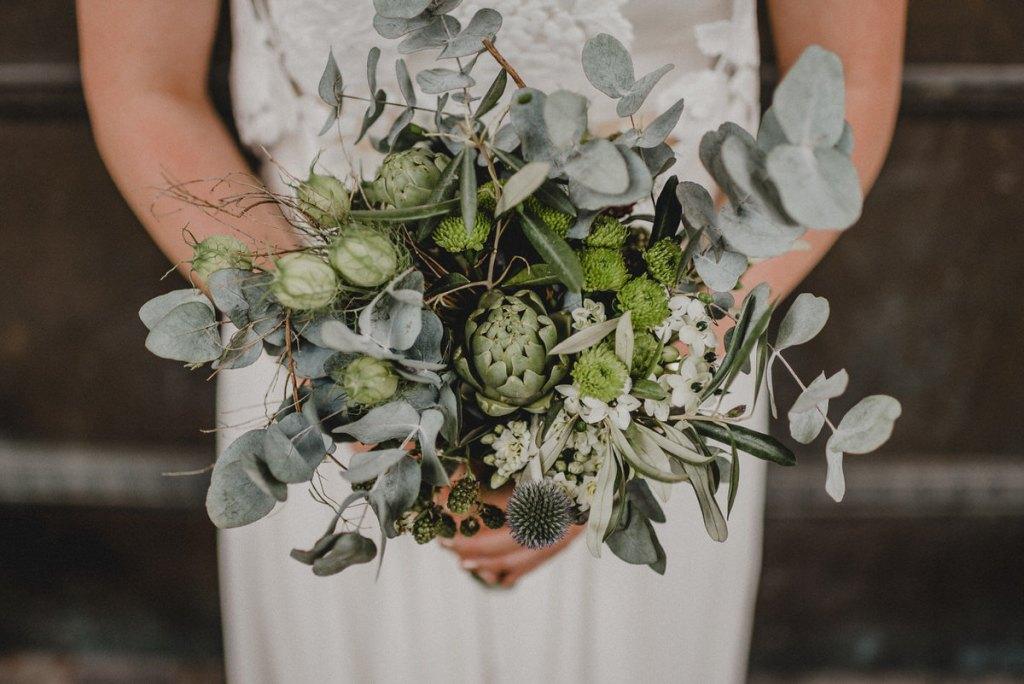 Brautstrauß im Greenery Style