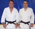 Dominique Berthold & Jean-Jacques Béguin après l'entraînement
