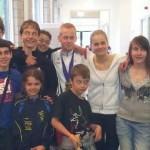 Les judokas et leur coachs