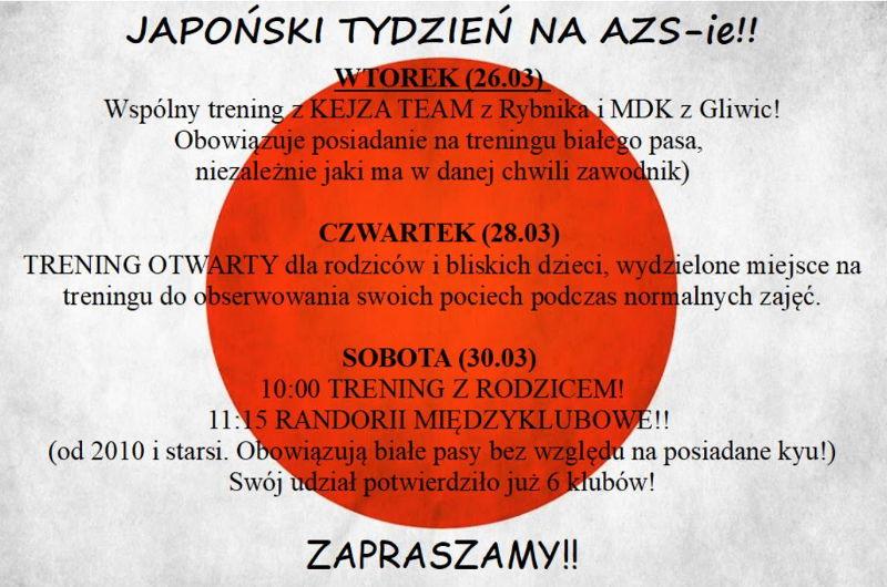 Japoński tydzień w AZS Gliwice