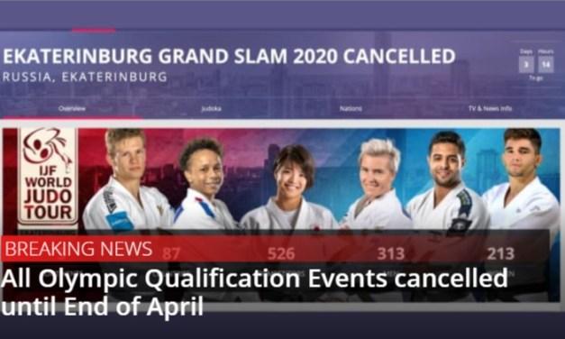 IJF odwołuje wszystkie kwalifikacje olimpijskie do końca kwietnia