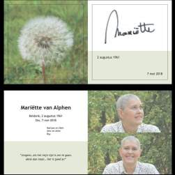 In memoriam: Mariëtte van Alphen