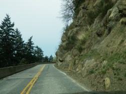 Section of road on Chuckanut Drive