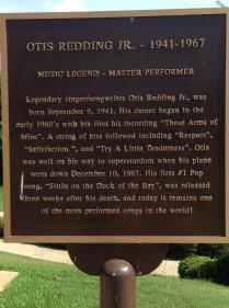 Otis Redding monument marker