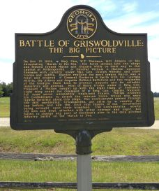 Battle of Griswoldville historical marker