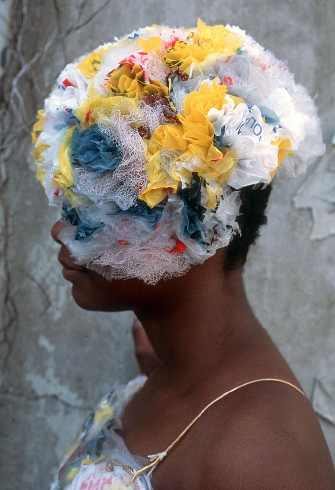 Plastic Bag Headdress JUDY BALES