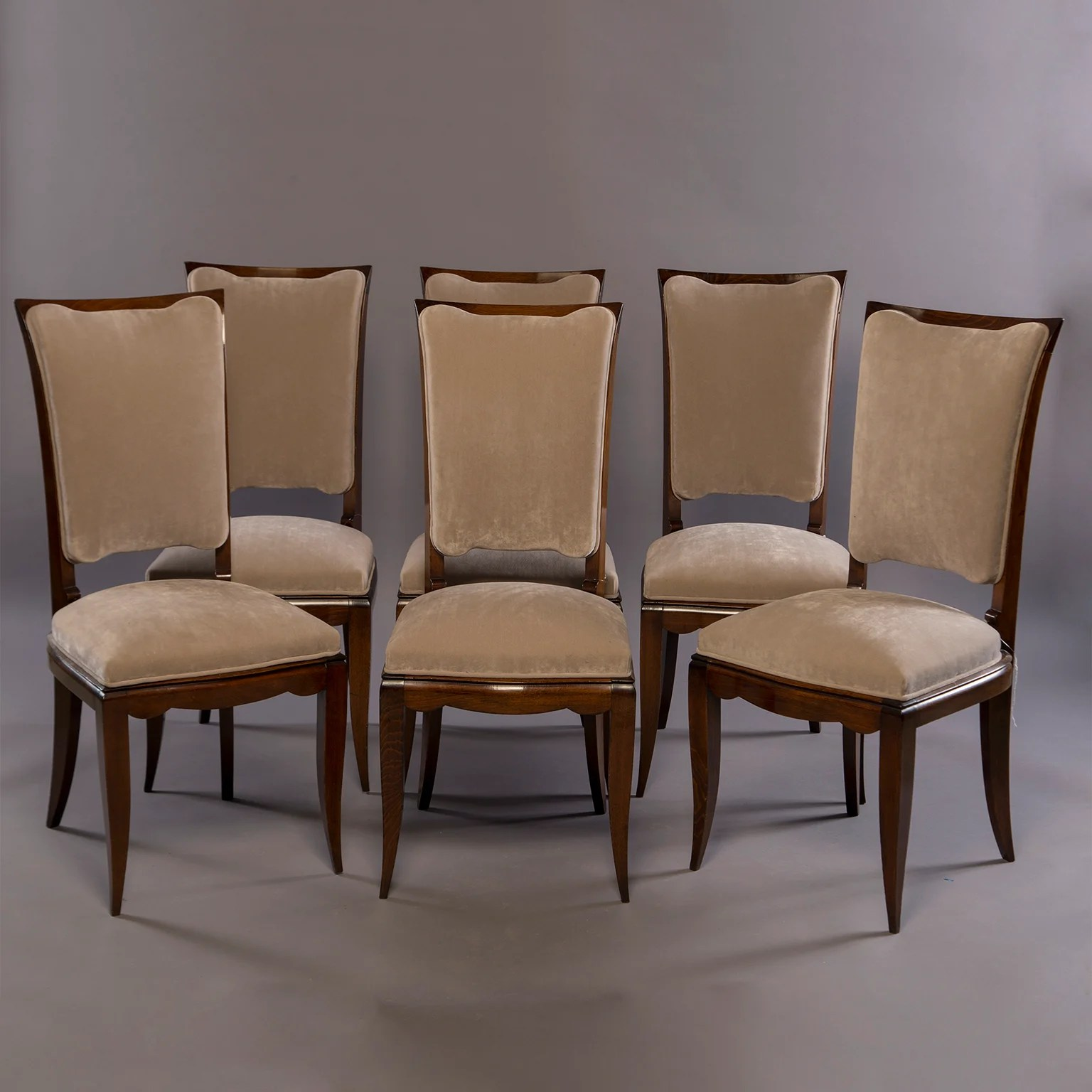 Italian Dining Chairs Set Of Six Midcentury Italian Polished Walnut Dining Chairs