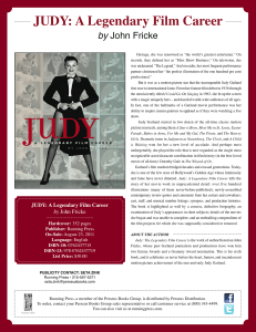 Judy Garland A Legendary Film Career Sell Sheet