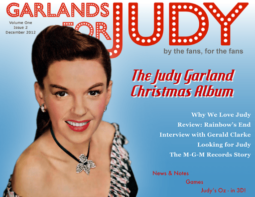 Garlands for Judy December 2012 Webzine
