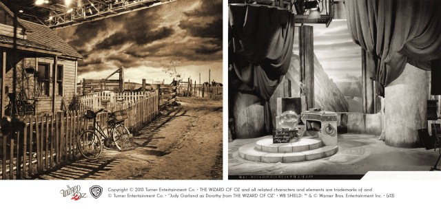 The Gale Farm & The Witch's Throne Room - The Wizard of Oz Set Reference Stills