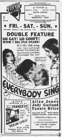 April 14, 1938 Judy Garland, Allan Jones, and Fanny Brice in