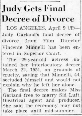 April 10, 1952 DIVORCE IS FINAL Pittsburgh_Post_Gazette