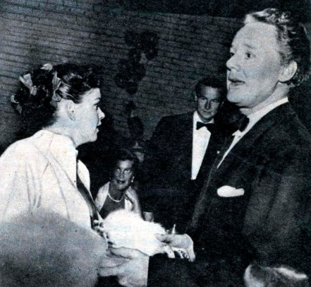at Romanoff's after Garland's Los Angeles Philharmonic opening night April 21, 1952