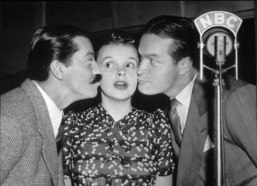 Judy Garland, Bob Hope, and Jerry Colonna circa 1940