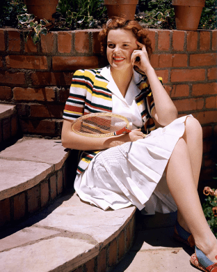 Judy Garland in her tennis outfit 1939