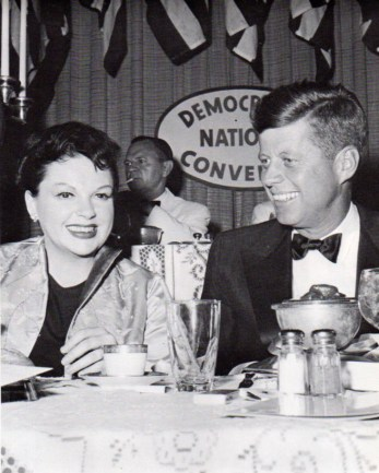 Judy Garland and John F. Kennedy at the Democratic National Convention fundraising event at the Beverly Hills Hilton July 10, 1960