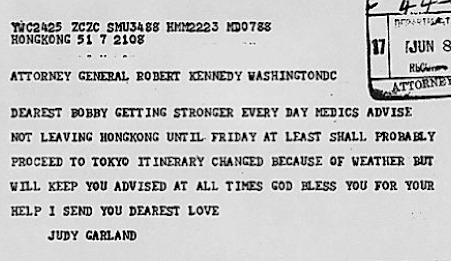 June 8, 1964 Judy responds to B Kennedy's May 28 telegram R Smith