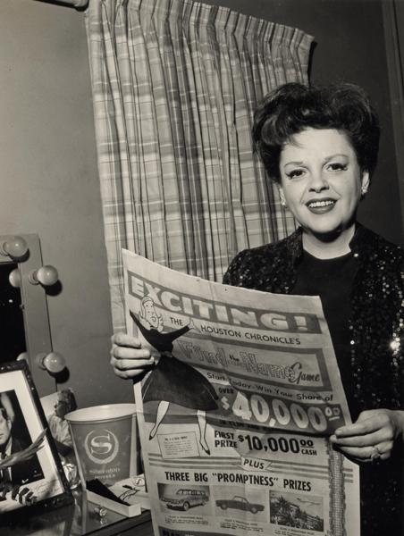 Judy Garland in Houston, Texas, May 10, 1961