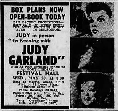 Judy Garland in Melbourne, Australia