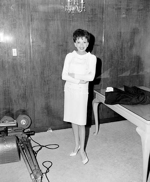 Judy Garland attends a press conference at the Chevron Hotel in Sydney, May 11, 1964