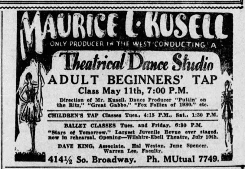 Maurice Kusell Theatrical Dance Studio - The Gumm Sisters