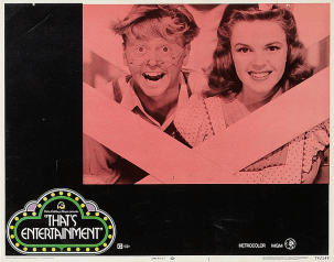 """""""That's Entertainment!"""" lobby card 1974 Judy Garland and Mickey Rooney"""