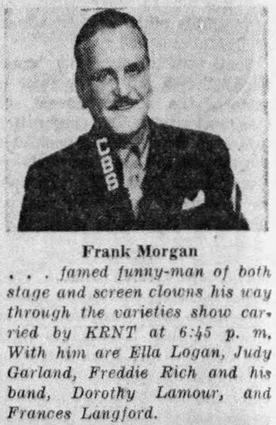 Frank Morgan's Varieties starring Judy Garland, Dorothy Lamour, and Frances Langford