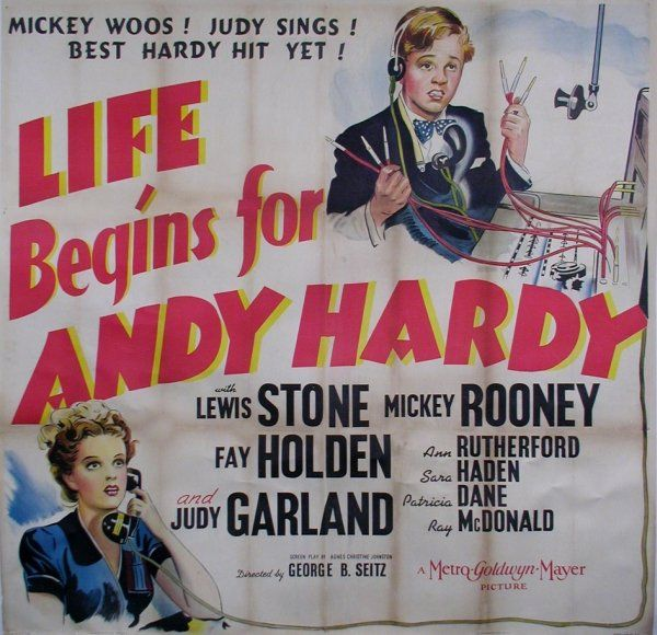 "Judy Garland and Mickey Rooney in ""Life Begins For Andy Hardy"""