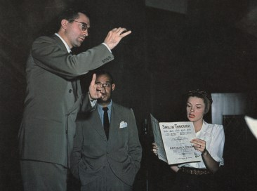 July 10, 1945 New York w Conductor Lyn Murray & Dave Kapp