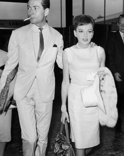 Judy Garland, American singer and actor, with Mark Herron, c 1964