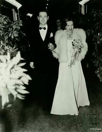 "Barron Polan escorts Judy Garland to the Los Angeles premiere of ""Gone With The Wind"""