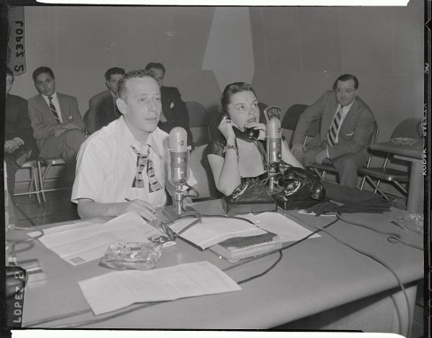 Judy Garland Appearing on Radio Show