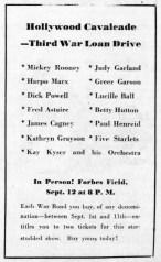September 9, 1943 (for September 12) BOND TOUR Pittsburgh_Post_Gazette