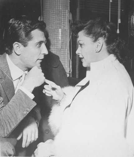 Judy in Paris with Gilbert Becaud