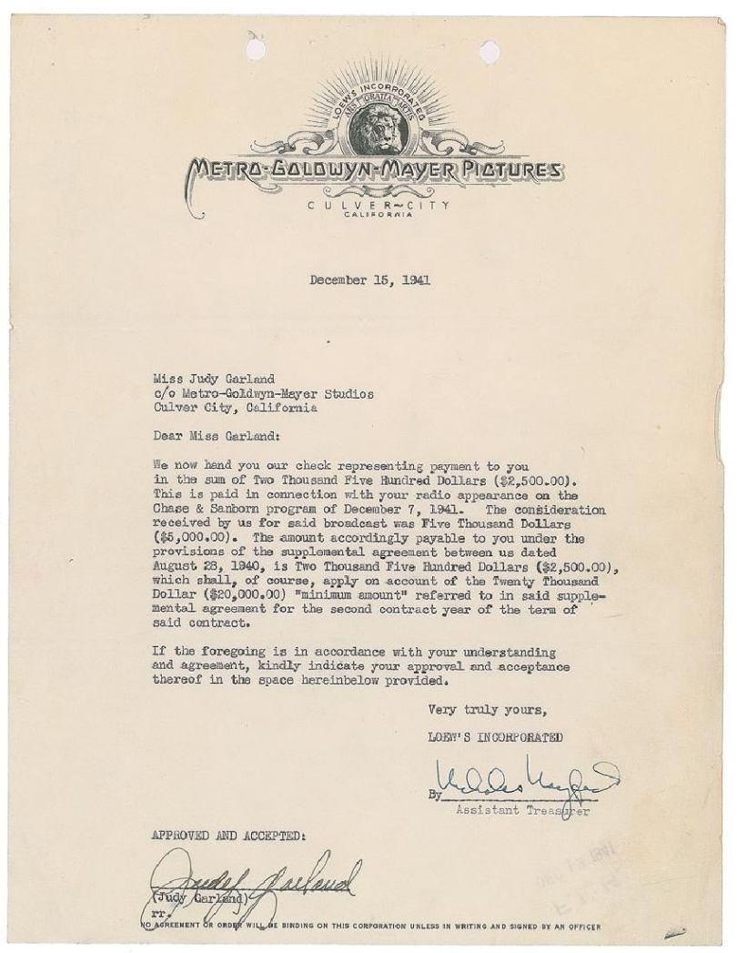 December 15, 1941 contract