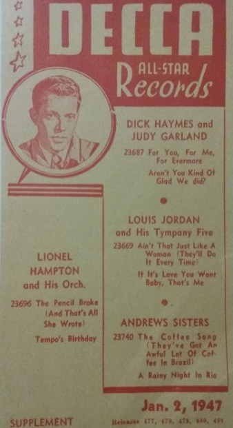 January 2, 1947 Flyer 1