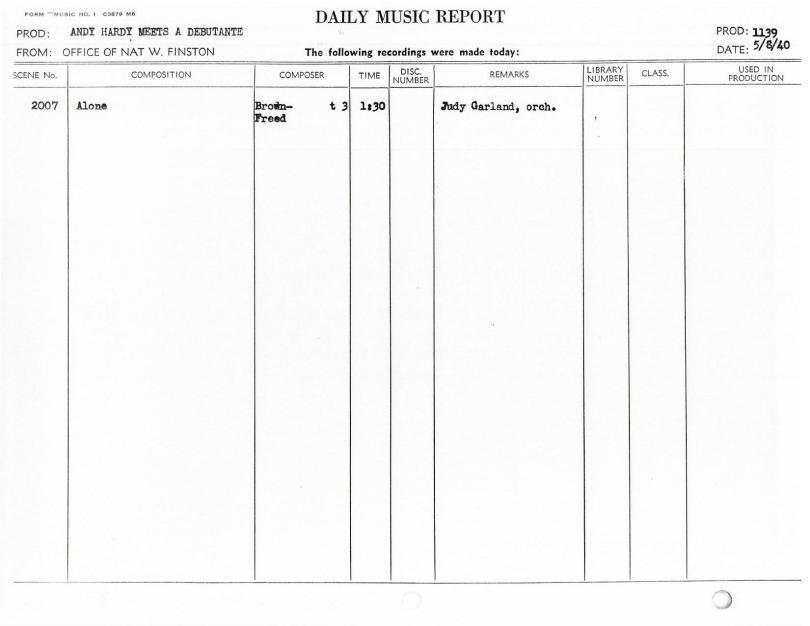 May 8, 1940 Alone
