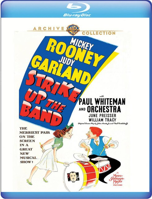 "Judy Garland and Mickey Rooney in ""Strike Up The Band"" on Blu-ray"