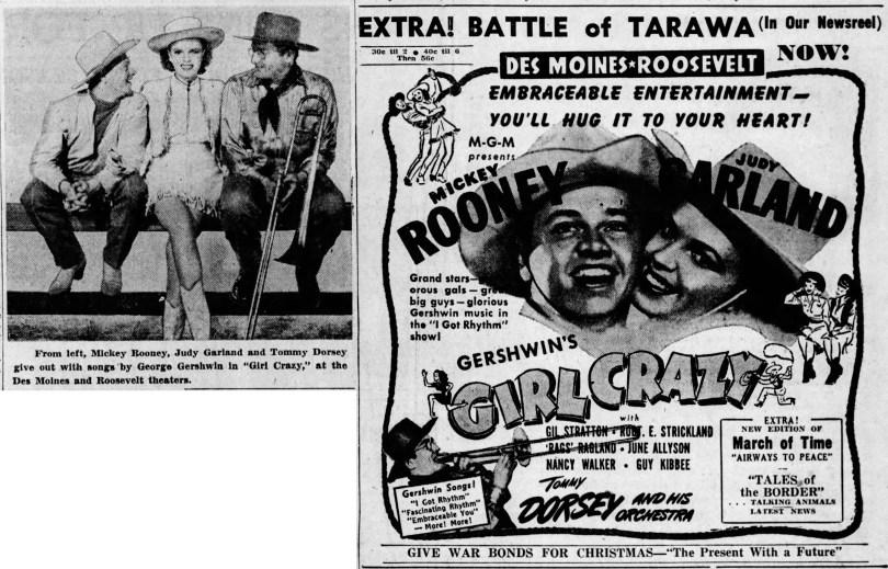 """Judy Garland and Mickey Rooney in """"Girl Crazy"""""""