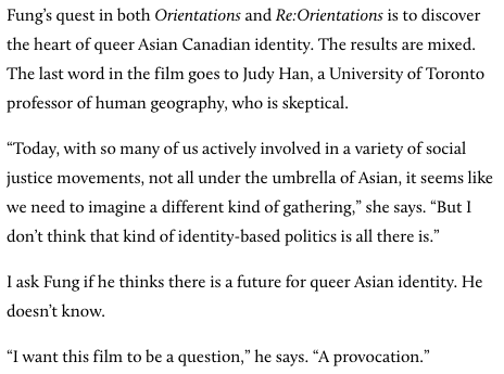 """Today, with so many of us actively involved in a variety of social justice movements, not all under the umbrella of Asian, it seems like we need to imagine a different kind of gathering.... But I don't think that kind of identity-based politics is all there is."""