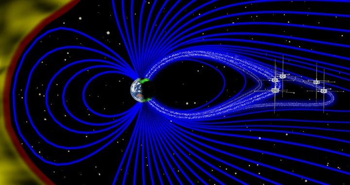 Artist's rendering of the Earth's magnetosphere