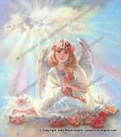Girl Angel on Cloud