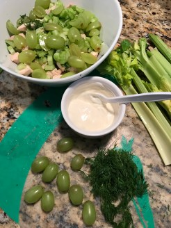 For a lighter dressing, mix fat-free plain Greek yogurt with mayonnaise. I use half and half.