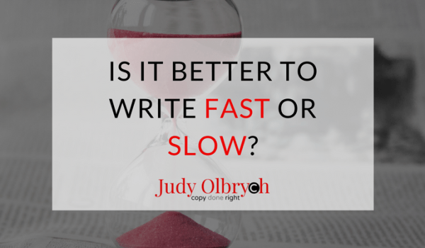 Is It Better to Write Fast or Slow?