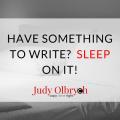 Writing asd Sleep