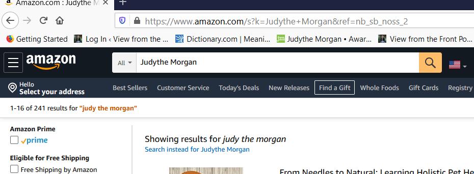 Judy the Morgan; judythe morgan