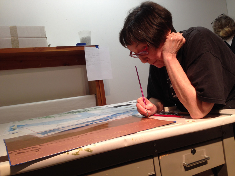 Judy Youngblood at Flatbed Press